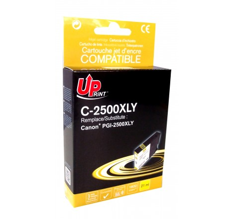 Jet d'encre UPRINT C-2500XLY- Compatible CANON MAXIFY IB4050 -PGI2500XL - YELLOW